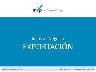 Ideas de Negocio EXPORTACIÓN