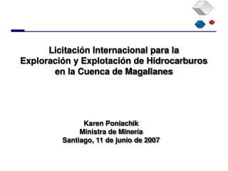 Licitaci n Internacional para la   Exploraci n y Explotaci n de Hidrocarburos en la Cuenca de Magallanes