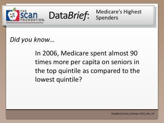 Medicare's Highest Spenders