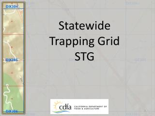 Statewide  Trapping Grid STG