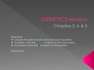 GENETICS review