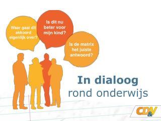 In dialoog rond onderwijs