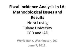 World  Bank, Washington, DC June 7 ,  2012