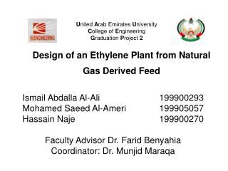 Design of an Ethylene Plant from Natural Gas Derived Feed