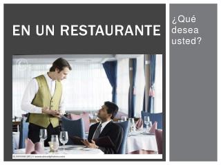 En un  restaurante