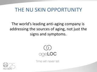 THE NU SKIN OPPORTUNITY