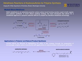 Metathesis Reactions of Acyloxysulfones for Polyene Synthesis
