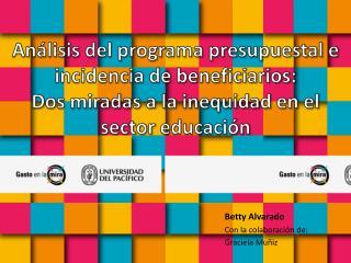 Betty Alvarado Con la colaboración de:  Graciela Muñiz
