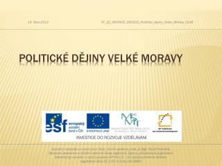 Politické dějiny Velké Moravy