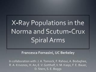 X-Ray Populations in the Norma and  Scutum -Crux Spiral Arms