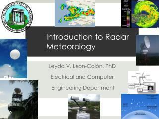 Introduction to Radar Meteorology