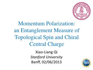 Momentum  Polarization :  an E ntanglement Measure  of  Topological Spin and Chiral Central Charge
