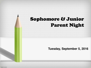 JUNIOR PARENT NIGHT