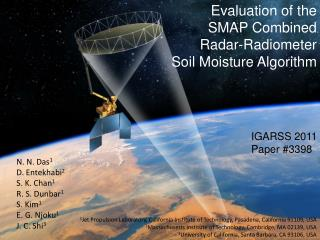 Evaluation of the  SMAP  Combined  Radar-Radiometer  Soil  Moisture Algorithm