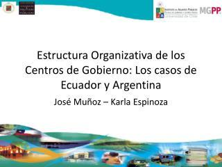 Estructura Organizativa de los Centros de Gobierno: Los casos de Ecuador y Argentina