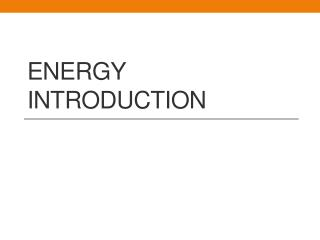 Energy Introduction