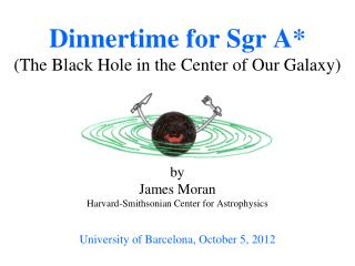Dinnertime for  Sgr  A* (The Black Hole in the Center of Our Galaxy)