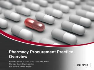Pharmacy Procurement Practice Overview