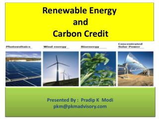 Renewable Energy  and  Carbon Credit