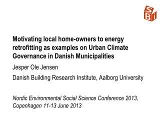 Jesper Ole Jensen Danish Building Research Institute, Aalborg University