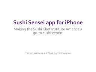 Sushi Sensei app for iPhone