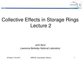 Collective Effects in Storage Rings  Lecture 2