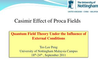 Casimir  Effect  of  Proca Fields