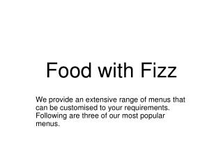 Food with Fizz