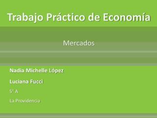 Trabajo Práctico de Economía Mercados