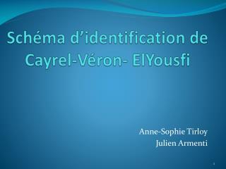 Schéma d'identification de  Cayrel - Véron -  ElYousfi