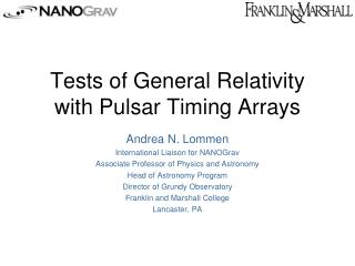 Tests of General Relativity with Pulsar Timing Arrays