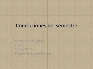 Concluciones  del semestre