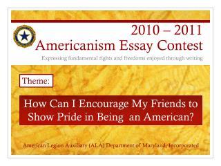 2010   2011 Americanism Essay Contest