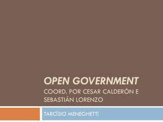 OPEN GOVERNMENT coord. Por  cesar calder�n  e  sebasti�n lorenzo