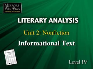 Unit 2: Nonfiction