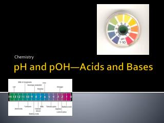 pH and  pOH —Acids and Bases