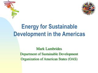 Energy for Sustainable Development in the Americas
