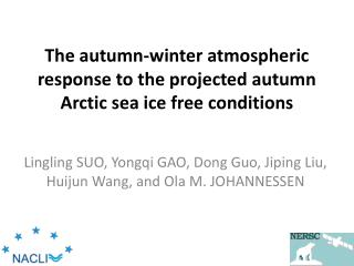 The autumn-winter atmospheric response to the projected autumn Arctic sea ice free conditions