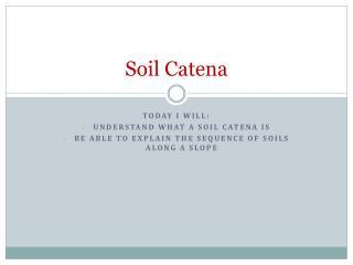 Soil Catena