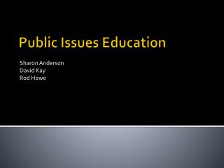 Public Issues Education