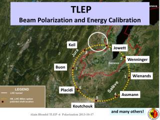 TLEP  Beam Polarization  and  Energy  Calibration