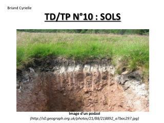 TD/TP N°10 : SOLS
