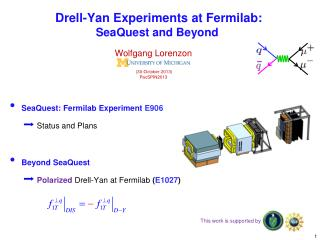 Drell -Yan Experiments at Fermilab:  SeaQuest  and Beyond