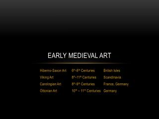 Early Medieval Art