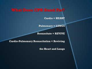 Cardio = HEART