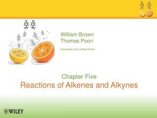 Characteristic Reactions of Alkenes