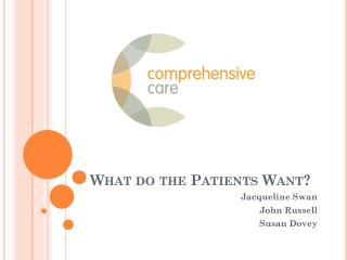 What do the Patients Want?