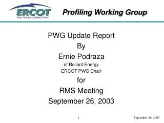07.15.03 Status Meeting