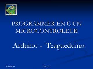 PROGRAMMER EN C UN MICROCONTROLEUR