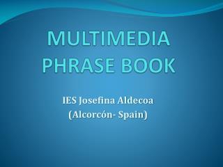 MULTIMEDIA  PHRASE BOOK